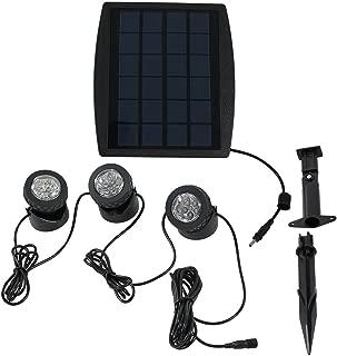 Sunnydaze Set of 3 Outdoor Solar Powered LED Multi-Color Lights