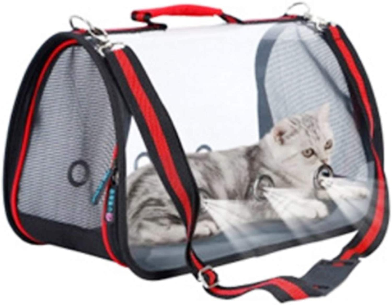 Pet Travel Carrier Waterproof Pet Carrier for Cat Dog Lightweight Airline Approved Soft Sided Shoulder Travel Bags,Red,L Ourtdoor Pet Bag