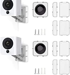Wyze Cam Mount with Wyze Sensors Mounting Kit, Semi-Permanent Solution for Wyze Cam and Wyze Sense Starter Kit, Screw Moun...