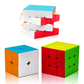 D ETERNAL Cube Combo Set of 2x2 3x3 4x4 High Speed Stickerless Puzzle Cube