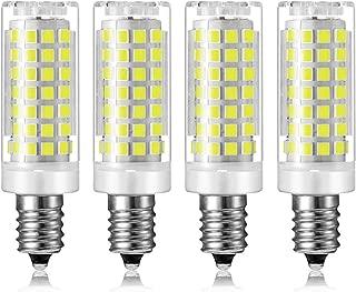 MD Lighting 9W E12 Mini Corn Bulbs Candelabra LED Light Bulb (4 Pack)-88 LEDs 2835 SMD 900LM Daylight White 6000K Chandelier Decorative Bulb 80 Watt Equivalent for Home Lighting, Non-Dimmable, AC 120V