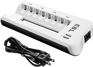EBL 8スロット充電器 単三単四ニッケル水素/ニカド充電池に対応 単3単4電池充電器 8本同時充電可能 充電器単体 単三単四充電器 単三 充電器