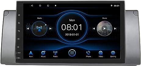 KKXXX Compatible con BMW E39 E53 X5 M5 Android 8.1 Estéreo para Auto Multimedia Reproductor de Video MP5 Am Radio FM Auto Navegación GPS Control de Volante de Enlace de Espejo BT