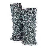 Tobeni 1 Paar Damen-Stulpen Wolle Kuschelig Weich Multicolour Beinwärmer für Frauen Ideal für Sport und Winter Farbe Blau-Meliert Grösse One Size
