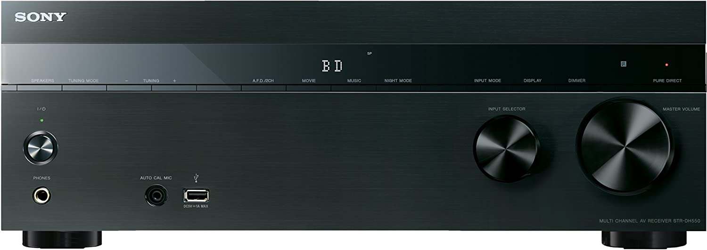 Sony Str Dh550 5 2 Kanal Receiver 145 Watt Pro Kanal 4k Passthrough 3d 4x Hdmi In 1x Hdmi Out Usb Schwarz Audio Hifi