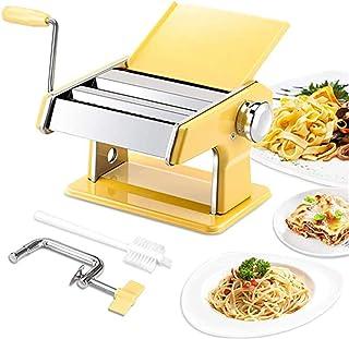 パスタマシン、ステンレスローラーパスタメーカー、7つの調整可能な厚さ設定、スパゲッティ、フェットチーニ、ラザニアまたは餃子用