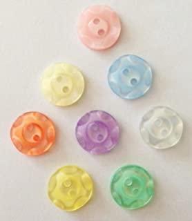 BABIES//CRAFT 10 x YELLOW DUCK SHAPED BUTTONS ~  22L approx 14mm