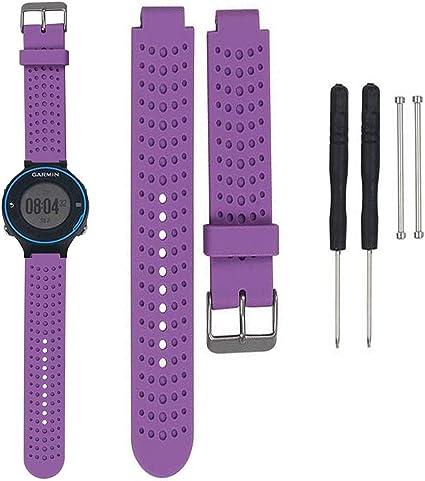 Bemodst Ersatz Silikon Uhrenarmbänder Für Garmin Forerunner 220 230 235 630 620 735 Smartwatch Sport Freizeit