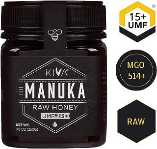 Kiva Raw Manuka Honey, Certified UMF 15+ (MGO 514+) - New Zealand (8.8 oz)