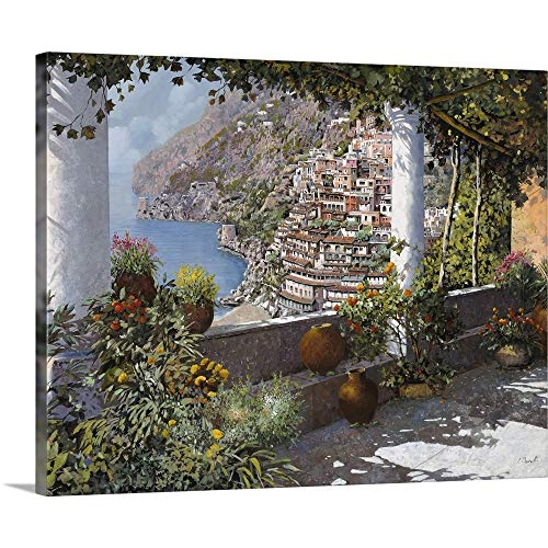 "GREATBIGCANVAS la Terrazza a Positano Canvas Wall Art Print, 45""x36""x1.5"""