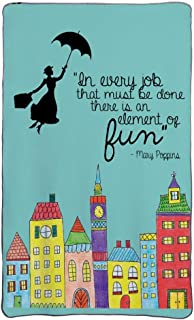 Mesllings Mary Poppins Fun Quote Flannel Fleece Throw Blanket Cozy Warm Lightweight Blankets for Living Room Outdoor Travel - 58