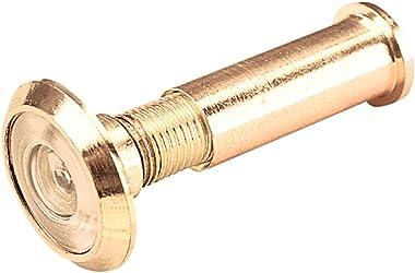 Defender Security U 9892 Door Viewer, 180-Degree, 1/2-Inch Bore, Solid Brass