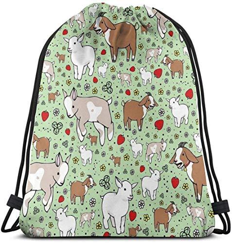 KINGAM Goats Drawstring Bags Gym Bag Mochila deportiva Sackpack