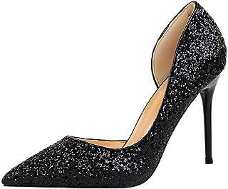 f701f2677f4fd6 Challeng Sandales Plates,Chaussures,Escarpins,Mode féminine Paillettes  Creuses Fine avec des Chaussures