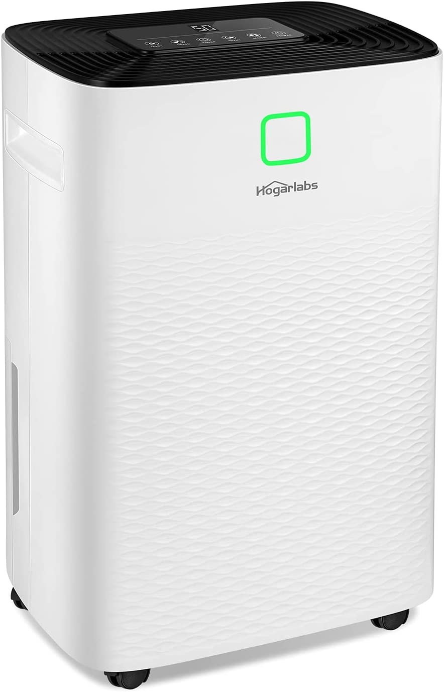 HOGARLABS 4000 Sq Ft 50 Pint Dehumidifier for Home and Basements, Dehumidifier with Drain Hose for Medium to Large Room, Multi-function Dehumidifier with Digital Control Panel and 24 Hours Timer