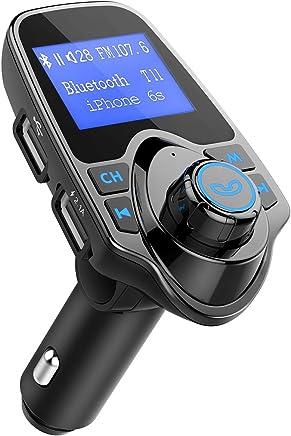 OMORC Bluetooth FM Transmitter Radio Adapter für IOS Android-Schwarz