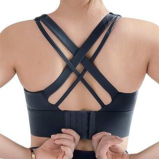 IMUZYN Sports Bras for Women High Impact Longline Criss-Cross Padded Activewear Workout Tops Fitness Running Yoga Bra