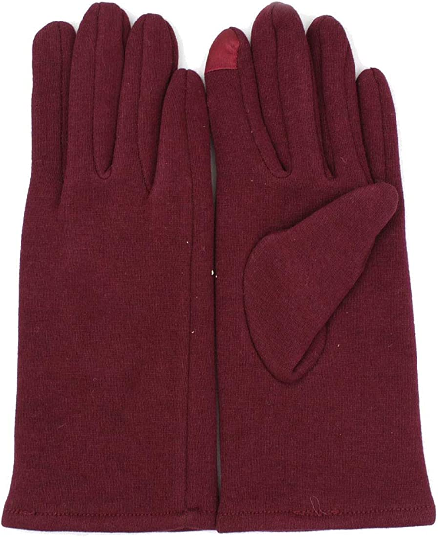 Women's Spandex Cold Weather Stretch Gloves with Warm Lining