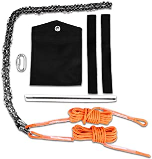 Image of 2021 Upgrade Camping Saws, Survival Pocket Chainsaw, 48 Inch High Reach Tree Limb Hand Rope, Folding Pocket Chain Saw,62 Sharp Teeth Blades on Both Sides-Best for Camping,Field Survival Gear,Hunting.
