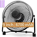 Best Battery Operated Fans - Battery Powered Fan with Metal Frame, 9 Inch Review
