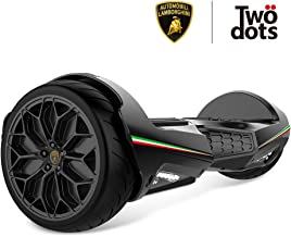 LAMBORGHINI TwoDots Hoverboard, 6.5 inches Hover Board with App and Bluetooth Suitable All Terrain, LED Lights Two-Wheel Balancing Scooter for Kids and Adult by UL2272 Certified