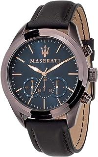 ساعة يد كرونوغراف بحركة كوارتز بسوار من الجلد وقرص من الستانلس ستيل من مجموعة تراغورادو للرجال - R8871612008