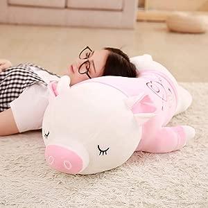 ZSFR Pig Doll Plush Doll Doll Girl Sleeping Cute Doll Hug Pillow Soft Lying Doll Super Soft 60Cm
