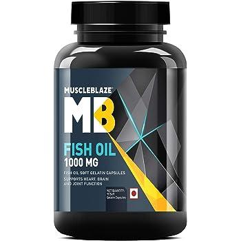 MuscleBlaze Omega 3 Fish Oil 1000 mg (180mg EPA and 120mg DHA) (90 Capsules)