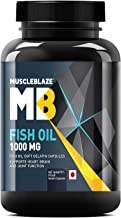 MuscleBlaze Omega 3 Fish Oil 1000 mg (180mg EPA and 120mg DHA) (90 Capsules)