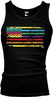 Rainbow American Flag - Gay Pride LGBTQ Juniors Tank Top