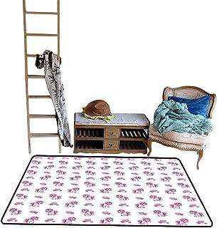 Home Custom Floor mat,Pink Hearts and Magical Pony Horse Kids Girls Design Fairytale Toy Animal Cartoon 48