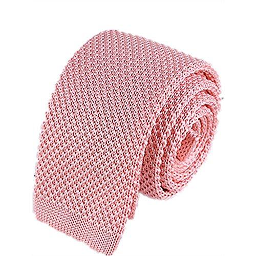 ZSRHH-Neckchiefs Halstücher Herren Krawatte gestrickt Krawatte festes Rosa schmale Mode lässig Krawatte