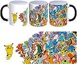 Taza magica Pikachu vs todos 1r generación