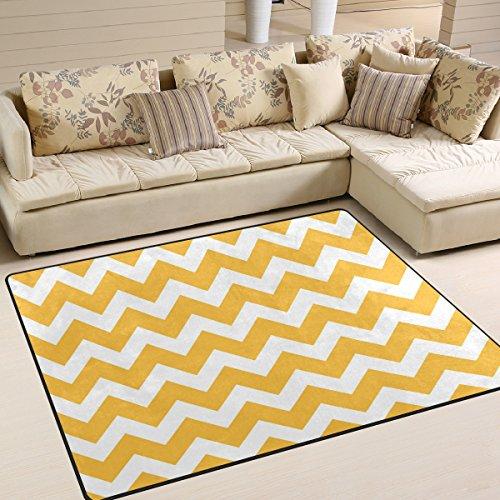 Naanle Chevron Zig Zag - Alfombra antideslizante para salón, comedor, dormitorio, cocina, 120 x 160 cm, geometría geométrica, alfombra para el suelo del cuarto de bebé, alfombra de yoga