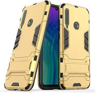 MaiJin 対応 ファーウェイ Huawei Honor 20 Lite/Honor 20i (6.21インチ) 保護カバー 2イン1 デュアル ハイブリッド ブラケット機能 耐衝撃ケース (金)