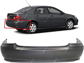 MBI AUTO - Primered, Rear Bumper Cover Replacement for 2003-2008 Toyota Corolla Sedan 03-08, TO1100208