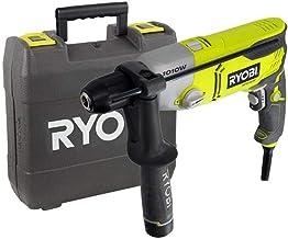 Ryobi 5133002058 Percusión Potencia 1010 W taladro con cable llave de mandril, 0 V, Negro, Plata, Amarillo