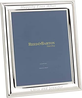 7195289c3e26 Luxury Giftware Reed   Barton Personalized Newton Silver-Plated 8x10  Picture Frame