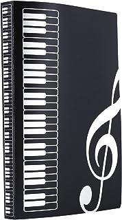WOGOD Music Sheet File Paper Documents Storage Folder Holder Plastic.A4 Size,40 Pockets (Black)