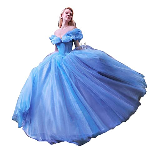 Cinderella Princess Ball Gowns Evening Prom Party Beast Belle