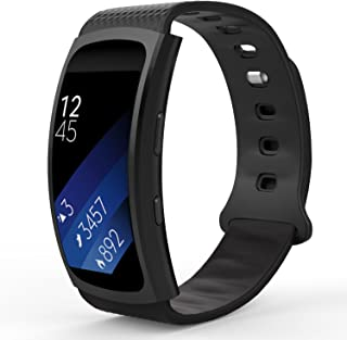 MoKo Samsung Gear Fit2 Correa, Fit 2 Pro Pulsera Deportiva Silicona Suave Reemplazo Sport Band para Samsung Gear Fit 2 SM-R360 Smart Watch, Negro