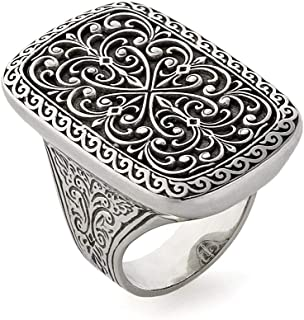 Konstantino Women's Classic Filigree Sterling Silver Ring, Size 7