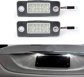 MOLEAQI 2 Piezas LED número Luces de matrícula luz de la lámpara de la luz Trasera para Au-di A8 D3 2002-2010
