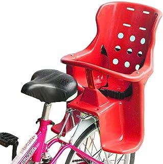 Bicicleta Infantil Asiento Trasero/Portabicicletas Asiento De Bebé, Valla Y Pedal De Plástico Respetuosos con El Medio Ambiente para Bebés De 1-6 Años, Rojo 1 Paquete