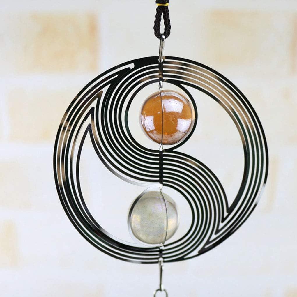 YOSIYO Ventana Bola Espiral cristalino Giratorio Wind Chimes Inicio Metal Inicio Jard/ín Decoraci/ón de Pared de Metal Colgando Windchime