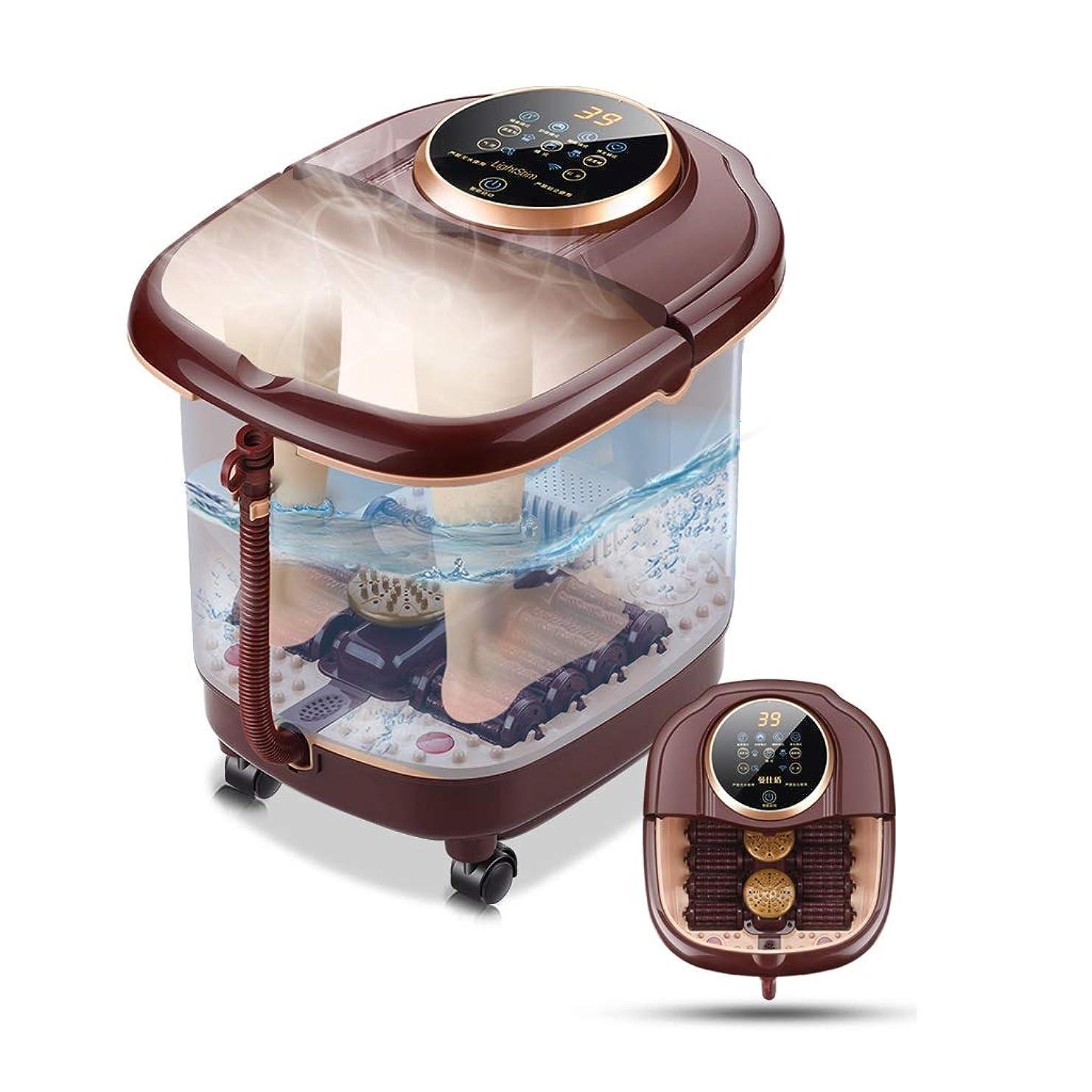 カヌーやろうバンカー温浴、マッサージローラー、泡、デジタル調節可能な温度制御付きフットスパマッサージ
