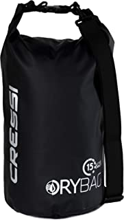Cressi Waterproof Bags 10, 15, 20 liters - Solid and Camouflage colors - Equipment Protection for Outdoor Activities, Wate...