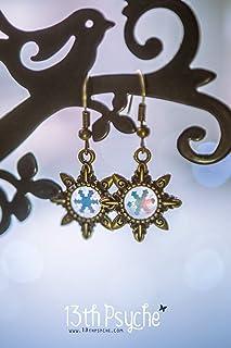 orecchini a fiocco di neve, orecchini a stella carini, regalo natalizio unico per le donne, orecchini in bronzo, gioielli ...