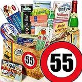 DDR Geschenke L / Geburtstag 55 / Geschenkbox für Sie / Spezialitäten Korb