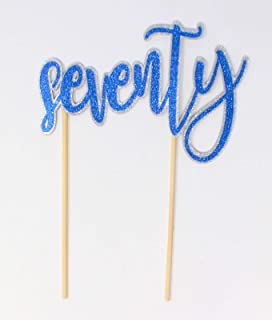 All About Details Seventy Cake Topper, 1pc, 70th birthday, 70th anniversary, party decor Multi